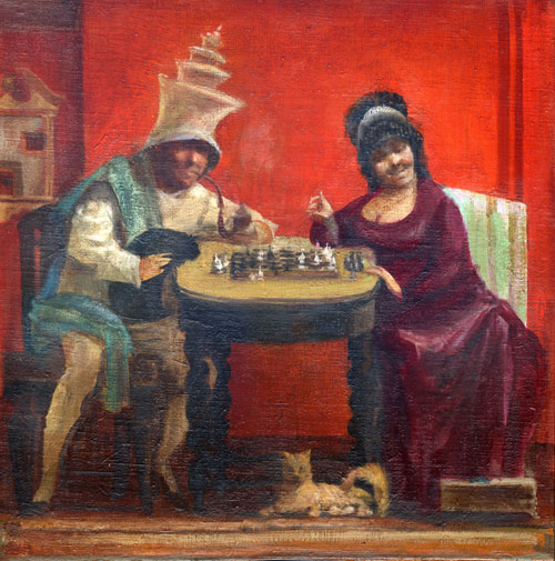 Chess in Red Room